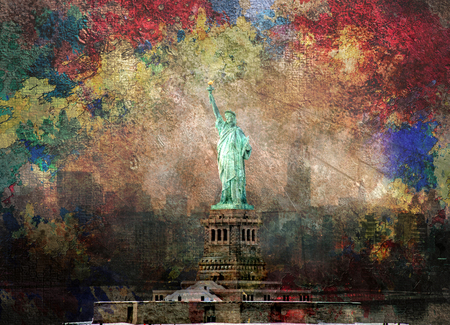 NYC Abstract. Statue of Liberty