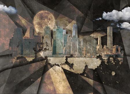 Modern Art. NYC Landscape