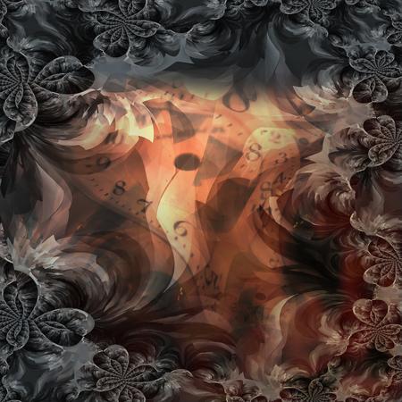 Surrealistic fractals. Time.
