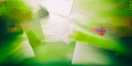 Abstract Painting in green colors