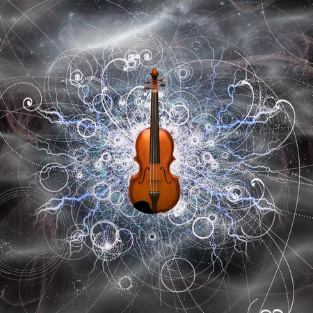 Violin in abstracted background