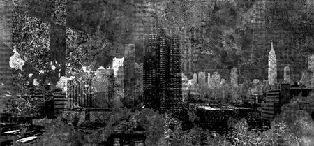 Abstracted composition of New York cityscape Stock Photo