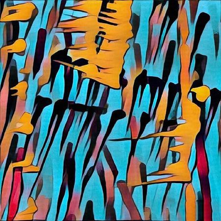 Abstract painting. Colorful brush strokes.