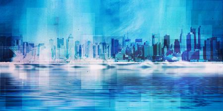 New York skyline. 3D Rendering