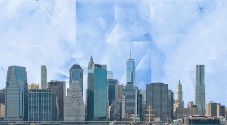 Modern art. Manhattan view.