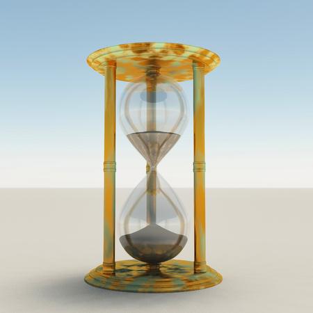 3d render. Hourglass. Stock Photo