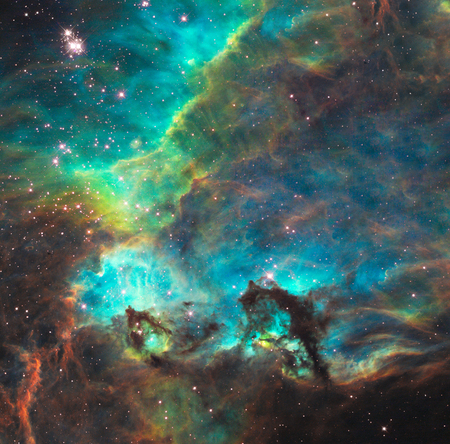 Vivid universe. Some elements provided courtesy of NASA.