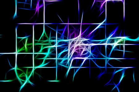 Geometric Abstract Vivid Glowing Lights