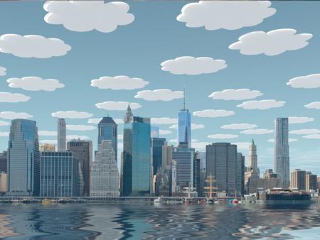 New York City Fantasy Clouds