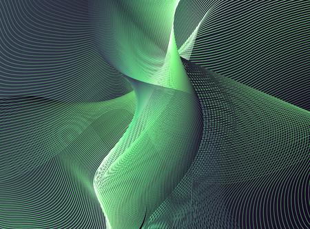 Green modern abstract. 3D rendering
