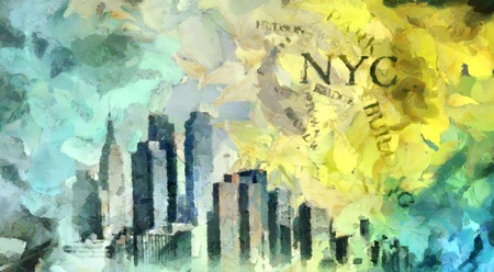New York Oil Painting on Canvas