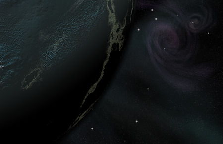 Deep space surreal composition. 3D rendering Stock Photo