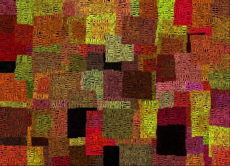 Abstract painting. Colorful squares and words. Stock fotó