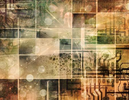Modern abstract composition. Circuit Technology Reklamní fotografie