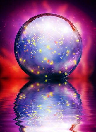 Crystal Orb. Water reflections