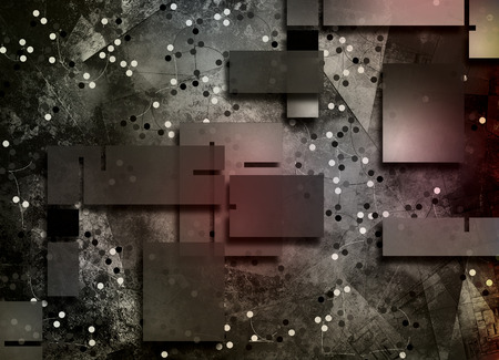 Abstract composition of geometric figures Stock Photo