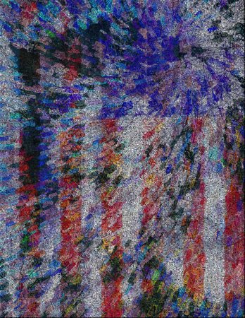 USA flag. Image composed entirely of words
