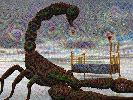 Giant scorpion in nightmare dream