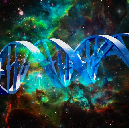 DNA strand in vivid space