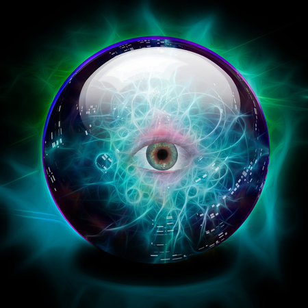 Crystal ball with all seeing eye Imagens - 115115138