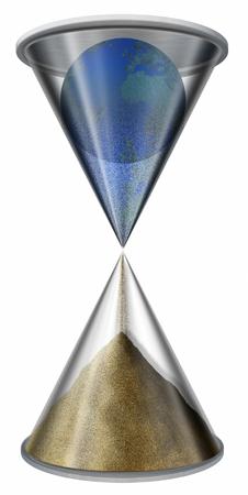 Planet Earth inside hourglass Imagens