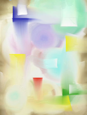 Abstract painting in light soft colors. 3D rendering Imagens