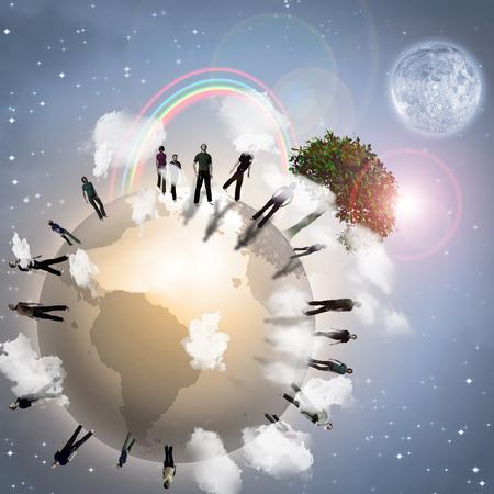 Eco Earth Community. 3D rendering
