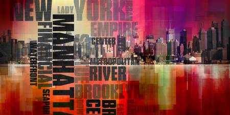 Modern Abstract, Manhattan. New York Stock Photo