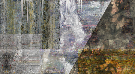 Muted Abstract Painting. 3D rendering