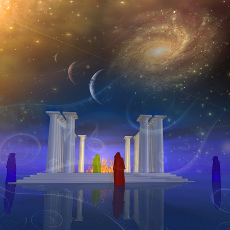 Ancient temple and its mysterious priests