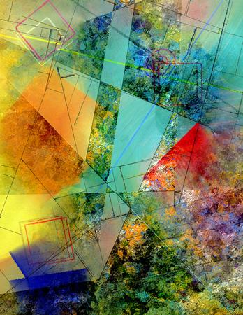 Colorful modern geometric abstract Reklamní fotografie
