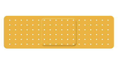 Bandage isolated on white Standard-Bild - 116653919
