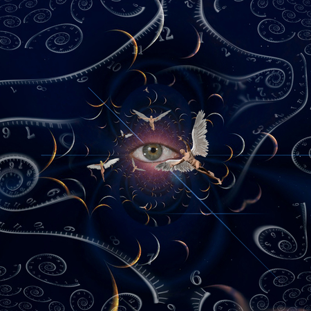Angels and eye in endless dimensions. Spirals of time