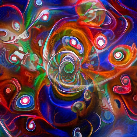 Abstract painting. Vortex of colors Stock Photo
