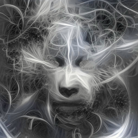 Mystic mask in time spirals Banco de Imagens