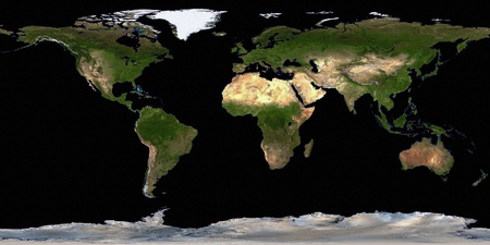 Earth Map Aerial View. 3D rendering