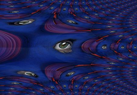Peeping Eyes Abstract Fractal