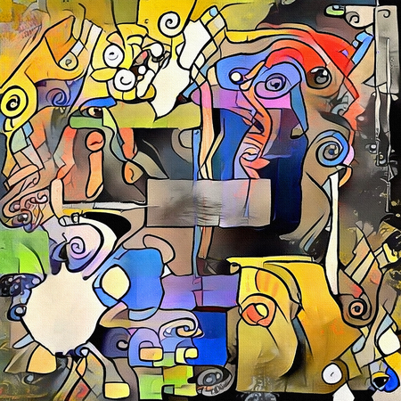 Classic trend of abstract painting. Exercises for imagination Banque d'images - 117721992