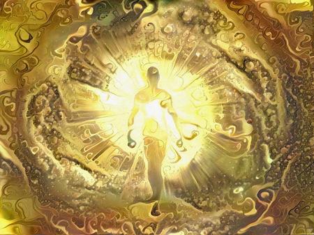 Lebendige Abstraktion. Licht sein. Seele oder Aura