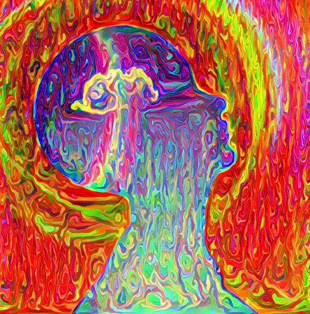 Colorful abstract painting. Vivid mind Stockfoto - 118570978