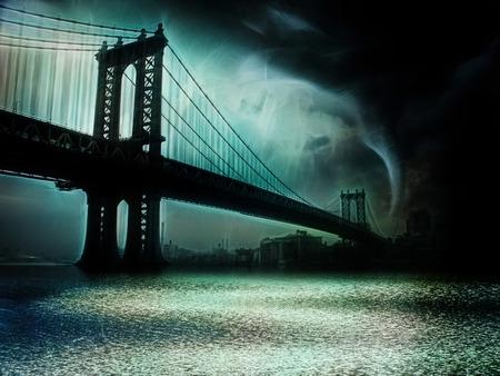 Tornado New York. Illustration
