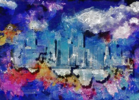 Modern urban abstract. New York Skyline