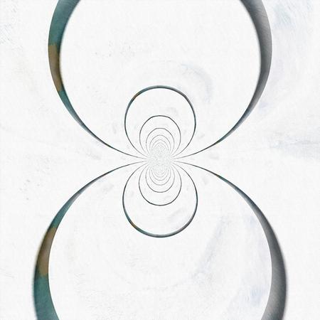 Modern abstract. Fractal of circles