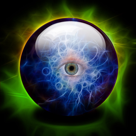 Crystal ball with all seeing eye Imagens - 120268350