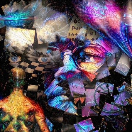 Surreal art. Artist consciousness