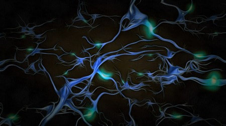 Neurons. Painting on canvas