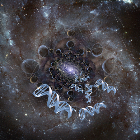 DNA strands in endless space