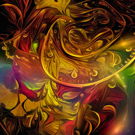 Colorful abstraction. Time spirals and melted clocks