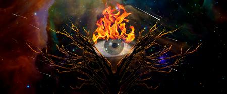 Mystic Tree of Life and Burning Eye of God