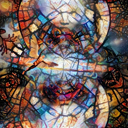 Spiritual abstract painting. 3D rendering Stock Photo